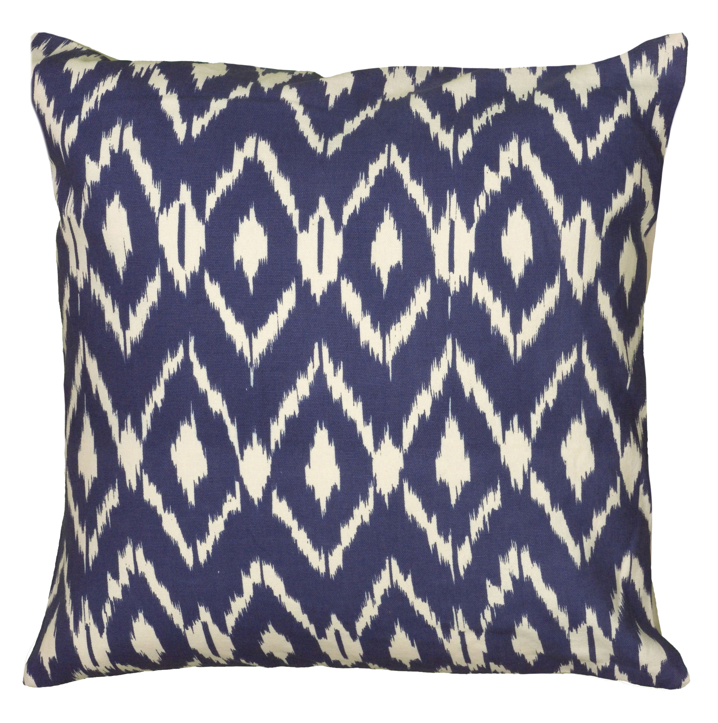 rizzy home ikat pillow pillow 18quot x 18quot in navy blue color